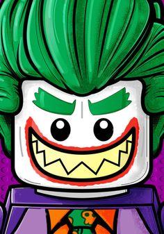 Lego Joker by Thuddleston on DeviantArt Batman Film, Batman Art, Gotham Batman, Batman Robin, Lego Chevalier, Art Du Joker, Lego Faces, Lego Dc Comics, Joker Cartoon