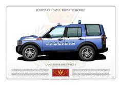 POLIZIA DI STATO . ITALIAN STATE POLICEREPARTO MOBILE. LAND ROVER DISCOVERY 3