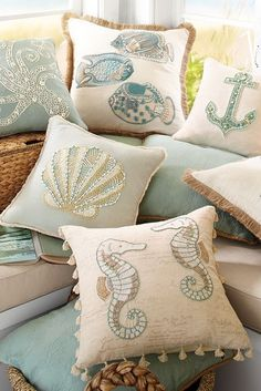 Who says life at sea has to be rough? Spread out some coastal comfort with Pier 1's collection of glamorous coastal pillows.