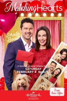 "Daniel O'Connor (Ryan Paevey) is the single tech mogul and Julia Palmer (Taylor Cole) is the matchmaker tasked with finding him the perfect match. Tune in February for ""Matching Hearts,"" an all new original romantic premiere only on Hallmark Channel. Hallmark Channel, Films Hallmark, Hallmark Weihnachtsfilme, Castle Tv, Castle Beckett, Taylor Cole, Family Christmas Movies, Hallmark Christmas Movies, Holiday Movies"