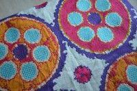 Lino bordado para tapiz, cojines, pieceras. Diseño exclusivo Ancho=1,40 mt
