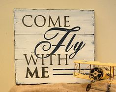 Come Fly With Me Airplane Art Aviation Art by ChurchStDesigns