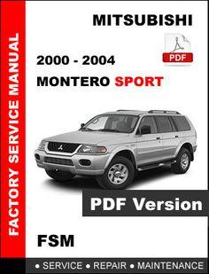2000 2001 2002 2003 2004 MITSUBISHI MONTERO SPORT FACTORY SERVICE REPAIR MANUAL #repair #manual #service #factory #montero #sport #mitsubishi