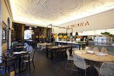 L'OSTERIA restaurant at Künstlerhaus by DiPPOLD Innenarchitektur GmbH, Munich hotels and restaurants