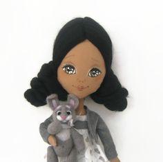 OOAK Russian Girl Vera Art Cloth Doll Collectible  by NatsDoll, $80.00