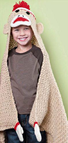 Sock Monkey Blanket Crochet Pattern