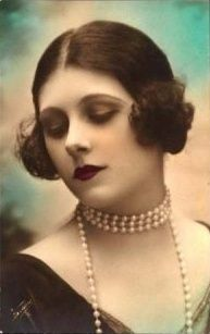 1920's Flapper - Tinted Postcard.....love the softness and parting of her hair