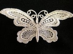25 Pieces Slim Venise Lace Butterfly Applique FREE by TalSumekh, $13.25