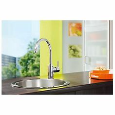 Grohe Feel Side Lever Mono Mixer Kitchen Tap Chrome