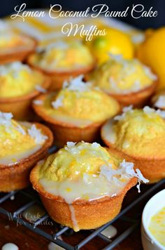 Will Cook for Smiles always has a way of making droolworthy desserts and these Coconut Lemon Pound Cake Muffins are no exception!