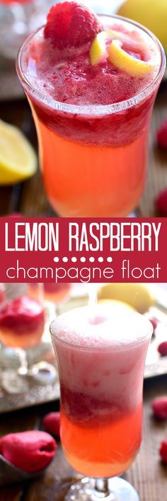 This Lemon Raspberry Champagne Float is the perfect way to ring in the New Year! It's simple, festive, and oh so delicious - the ideal drink for any celebration!