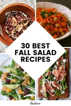 Sick of having the same old Caesar every day? Enter these 30 fall salad recipes you'll actually look forward to eating. #salad #healthy #recipes Fall Salad, Summer Pasta Salad, Indian Salads, Spiced Cauliflower, Squash Salad, Carrot Salad, Goat Cheese Salad, Fall Dinner, Roasted Butternut Squash
