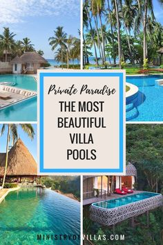 Because sharing a pool is so overrated - Check out the most beautiful private villa pools from Bali to Phuket and from Koh Samui to the Maldives.