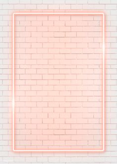Rectangle orange neon frame on an orange brick wall vector premium image by manotang Framed Wallpaper, Pink Wallpaper Iphone, Iphone Background Wallpaper, Pastel Wallpaper, Tumblr Wallpaper, Aesthetic Iphone Wallpaper, Screen Wallpaper, Iphone Wallpapers, Aesthetic Wallpapers