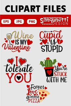 Fun for anti-valentine creative projects as well. Valentines Day Clipart, Funny Valentine, Be My Valentine, Love Letters, Cupid, Planner Stickers, Vector Art, Digital Art, Clip Art