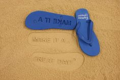 bc4f33015a497 FlipSidez custom flip flops leave personalized imprints in sand with every  step. Customize flip flops with your name