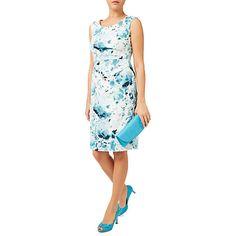 Buy Jacques Vert Contemporary Print Shift Dress, Blue/Multi Online at johnlewis.com