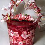 Thought that I would share the finished Valentines box/bucket that I made for a Valentines party last Saturday. I had a lot of fun going to. Valentine Boxes For School, Happy Valentines Day, Altered Books Pages, Butterfly Crafts, Valentine Cookies, Arts And Crafts, Marketing Ideas, Create, Paper