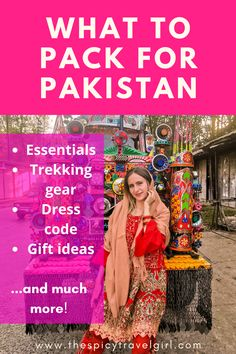 Are you wondering what to pack for your trip to Pakistan? This Pakistan Travel Packing List tells you exactly what essentials to pack for Pakistan, what to wear in Pakistan, what gifts to bring to Pakistan, and more! This way, you'll be perfectly equipped for your trip to Pakistan! #pakistandresscode #travelpackinglist Tokyo Japan Travel, Japan Travel Tips, China Travel, Travel Ideas, Travel Inspiration, Vacation Packing, Packing List For Travel, Packing Lists, Cruise Travel