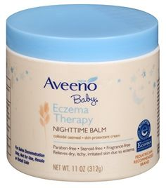 Aveeno Baby Eczema Therapy Nighttime Balm 11 Oz Pack of 2 -- Awesome product. Click the image : Baby Skin Care Nummular Eczema, Eczema Relief, Eczema Remedies, Itch Relief, Scar Remedies, Baby Eczema Cream, Eczema Baby, Anti Itch Cream