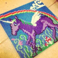Unicorn perler beads by idamarialindros