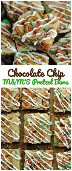 Chocolate Chip M&M'S Pretzel Bars - These are wonderful party treats for any kind of celebration! Enjoy, sweet, salty, crunchy and love all in one bite or five. #pretzel #bars #M&M #chocolatechip #cookies via @https://www.pinterest.com/BaknChocolaTess/