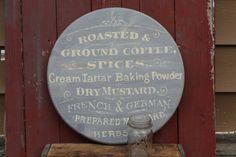 Vintage Kitchen Sign / Typography Round by JMFindsandDesigns