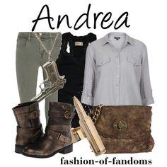 """Andrea (The Walking Dead)"" by fofandoms on Polyvore"