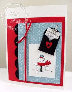 Stampin up cute christmas petal card punch