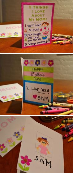 5 Things I Love About My Mom | DIY Mothers Day Crafts for Toddlers to Make