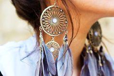 dream catcher earrings.