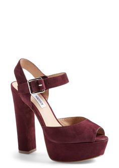 This burgundy peep-toe platform packs plenty of '90s attitude.