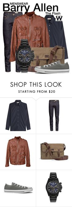 """The Flash"" by wearwhatyouwatch ❤ liked on Polyvore featuring Burberry, H&M, UGG Australia, Converse, MAD, television and wearwhatyouwatch"