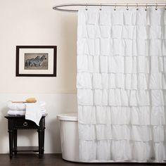 lush decor white ruffle shower curtain