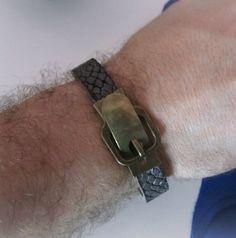 Bracciale+uomo+cuoio+di+BRAVE+men's+jewelry+su+DaWanda.com