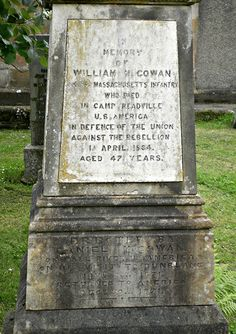 American Civil War - Dunblane Cathedral Burial Ground, Scotland