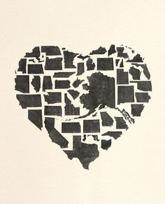 How cute is this heart of America? #4thOfJuly