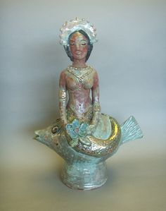 Beatrice Wood - Mermaid Teapot - Permanent Collection
