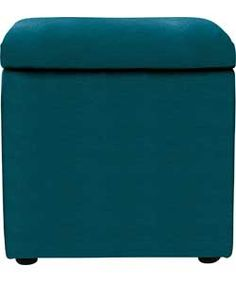 Cube Footstool with Storage - Teal. Cube Storage, Storage Ideas, Storage Footstool, Argos, Outdoor Furniture, Outdoor Decor, Ottoman, Clever, New Homes