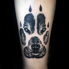 Realistic Wolf Paw Male Tattoo On Forearm I'd like to have this as a painting of my dog Rock! #tattoosformen