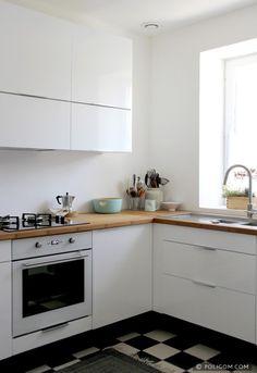 j'aime beaucoup ce qui a été fait dans cette petite cuisine