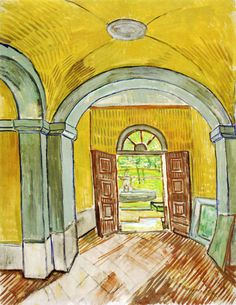 The Vestibule of the Asylum, 1889 by Vincent van Gogh on Curiator, the world's biggest collaborative art collection.