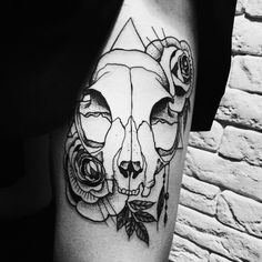 1337tattoos — Cat skull by DMT TATTOO submitted...