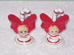 Vintage LEFTON Candy Cane miniature Big Bow by BrilbunnySelections, $45.00