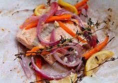 Salmon en Papillote - Easy/fast method to cook salmon keeping it juicy!