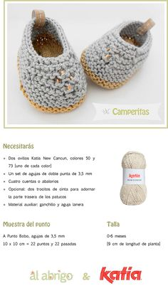Craft Lovers ♥ Camperitas por Al abrigo | http://www.katia.com/blog/es/craft-lovers-patron-punto-patucos-camperitas-al-abrigo/