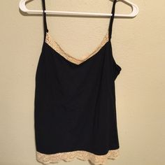 Ann Taylor Camisole Ann Taylor Black and Beige Camisole. Size Medium Ann Taylor Other
