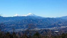 陣馬山頂上から富士山