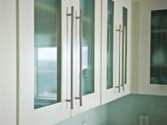 Frrosted Glass Cabinetry.