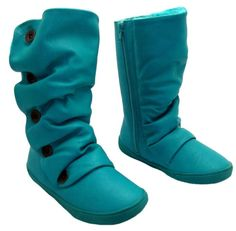 New KIDS BLOWFISH HAMISH TURQUOISE WARM SHEARLING LINED MID CALF BOOTS